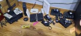 Decodificadores, controles, HDMI, vable de teléfono, transformador.(Telecetro, Cablevisión direc tv)