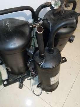 Complesor de aire acondicionado trifásico con bomba