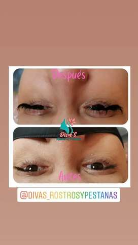 Spa de pestañas limpieza facial tratamiento BB glow