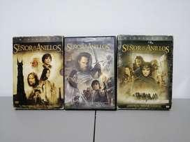 Colección Trilogía El Señor de los Anillos, 3 cajas 6 DVD