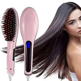 Cepillo alisador de cabello eléctrico Simply Straight