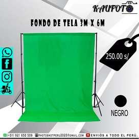 Fondo de tela fotográfico 3m x 6m