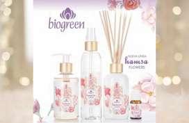 Set de aromatizantes y jabón líquido Línea Hamsa Biogreen