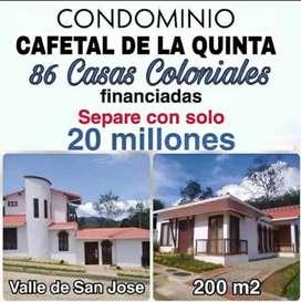 Casas campestres rústicas financiadas condominio