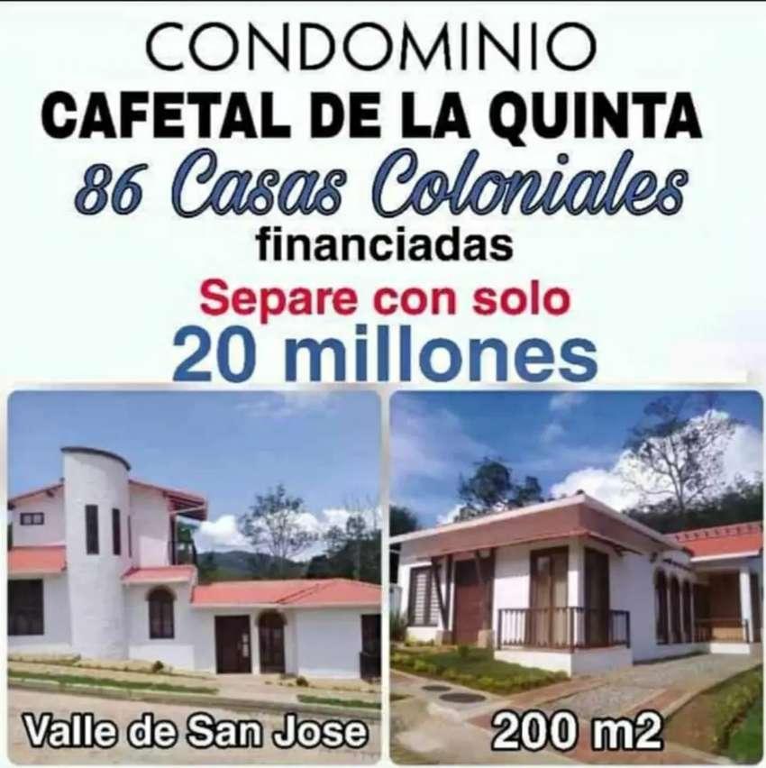 Casas campestres rústicas financiadas condominio 0