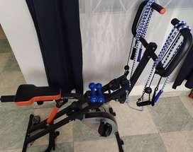 Bicicleta y Abdominales Evolution Fitness