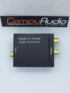 Convertidor de audio optico digital a RCA analogo