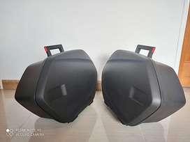 Vendo maletas originales para Yamaha MT tracer 900, con herrajes y cilindros; accesorios originales