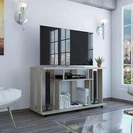 Mesa para TV Lanes color Rovere