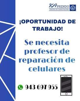 Se busca profesor de reparación de celulares