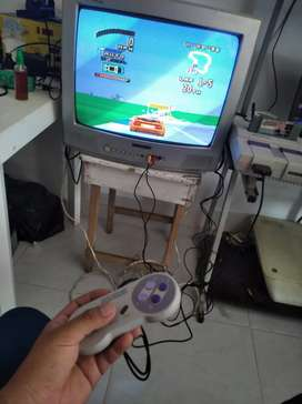 Vendo hermosa super nintendo