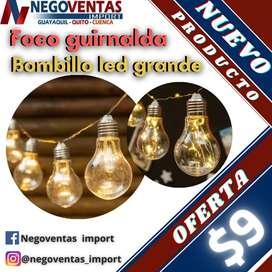 FOCO GUIRNALDA BOMBILLO LED GRANDE