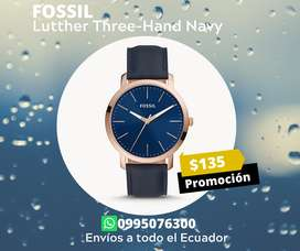 FOSSIL Lutther Three-Hand Navy