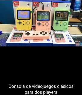 Consola portátil de video juegos con control extra nuevas