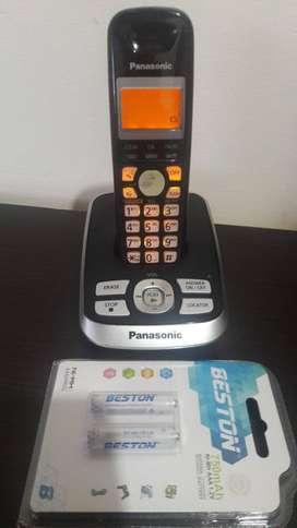 Panasonic con identidicador de llamadas, altavoz, contestador automático y grabador de mensajes de voz