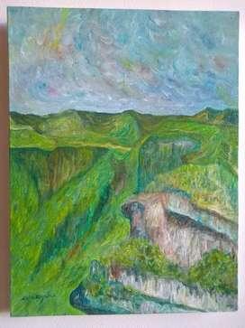 Pintura cuadro de ceballos Yañez