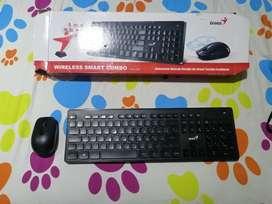 Teclado y mouse inalambrico nuevo nunca lo use