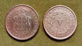 Moneda de 5 reis, Portugal 1868
