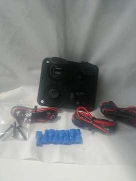 Tablero USB y encendedor bote o casabote o foodtruck