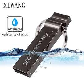 XIWANG Memoria Usb 64 Gb, metálica, Resistente al agua, Personalizable