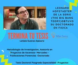 ASESORIA AYUDA ACOMPAÑAMIENTO GUIA PROFESOR METODOLOGIA DE INVESTIGACION TESIS MASTER DOCTORAL