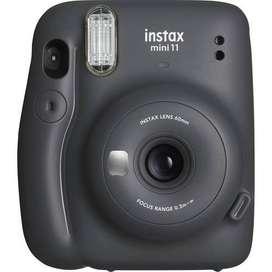 Cámara Fuji Instax Mini 11 Instantánea Fujifilm Original Negra (Charcoal Gray) Última Versión