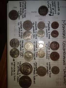 Monedas antiguas originales Colombianas
