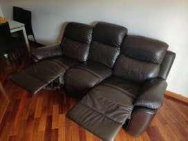 Sofá de Cuero - Reclinable