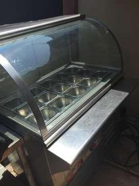 Exhibidor de alimentos frios y refrigerados
