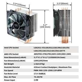 VENTILADOR DE COMPUTADORA CPU Air Cooler