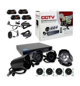 Kit Seguridad 4 Camaras Exterior/Interior Dvr