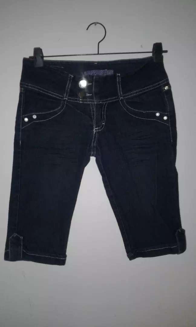 Capri de jeans talle 38 0