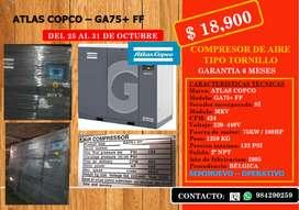 Compresor de tornillo ATLAS COPCO GA75+ FF
