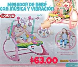Mesedor de bebe con musica y vibración