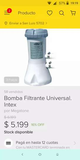 Vendo bomba itex 2006 litros por hora exelete estado sin filtro .2350 pido
