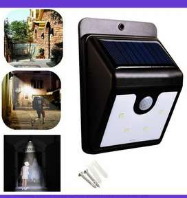 Lámpara sensor movimiento exteriores luz solar
