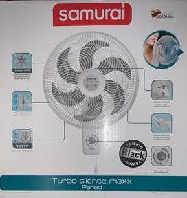Ventilador negro, nuevo marca samuraí