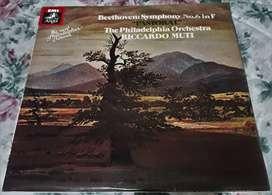 Vinilo Beethoven Symphony No 6 In F Pastoral Ric. Mutti 1980