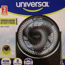Ventilador marca UNIVERSAL REF colors 8 PULGADAS NUEVO VERDE