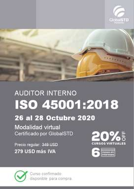 Auditor Interno ISO 45001:2018 Sistema de gestión de la seguridad y salud en el trabajo