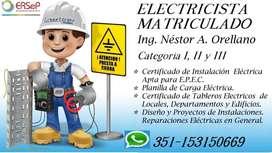 ELECTRICISTA MATRICULADO I, II Y III