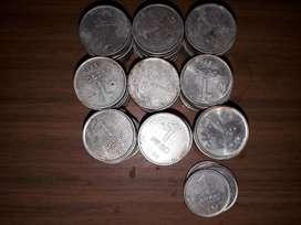 Lote de 94 monedas de 1 peso 1984 y 1983