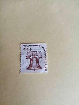 ESTAMPILLA 13 CENT UNITED STATE PROCLAIM LIBERTY 1967.