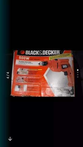 Taladro percutor 500 w black deker