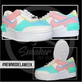 Tenis Nike AF1 Shadow Pastel Niñas