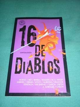 16 DE DIABLOS ANTOLOGIA . CUENTOS 2013 . M.E. WALSH H.QUIROGA, GRIMM, JOYCE Y OTROS