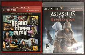 Usados PS3: Assassins Creed Revelations + Grand Theft Auto Episode FromLiberty