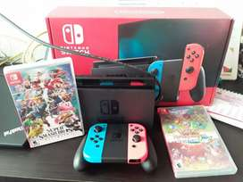 Nintendo switch Neon negro