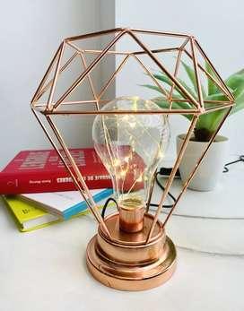 Lámpara de mesa diamante vintage