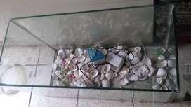 Remato Pecera de segunda de 48x30 cm vidrio grueso sin filtraciones